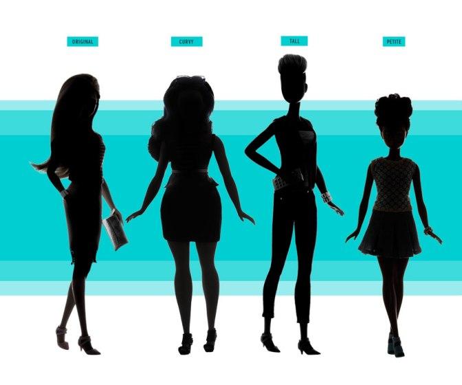 Barbie 3 Yeni Vücut Tipi ve 7 Ten Rengi İle Geliyor!