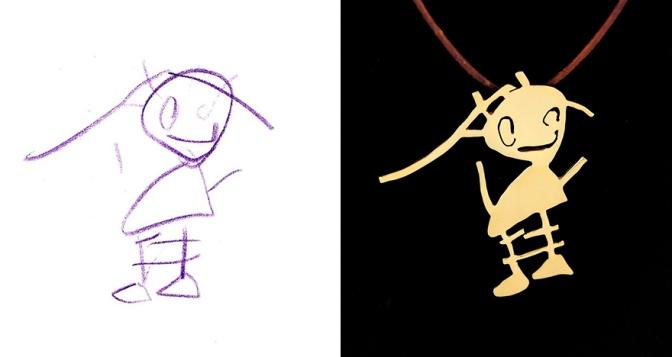 Çocukların Çizimleri Takı Olursa…